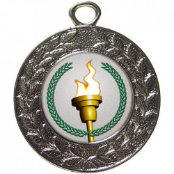 Silver Victory Torch Medal 45mm