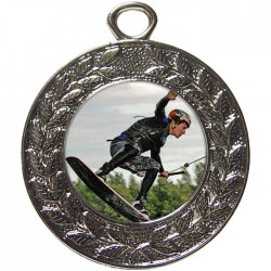 Silver Wake Boarding Medal 45mm