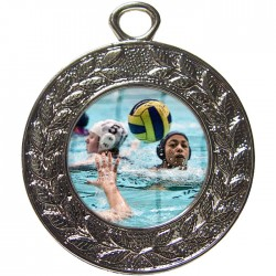 Silver Water Polo Medal 45mm