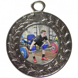 Silver Weightlifting Medal 45mm