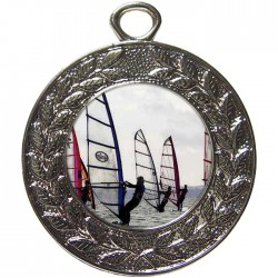 Silver Windsurfing Medal 45mm