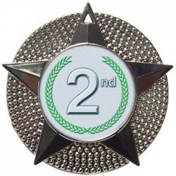 Silver 2nd Place Medal 48mm