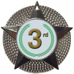 Silver 3rd Place Medal 48mm