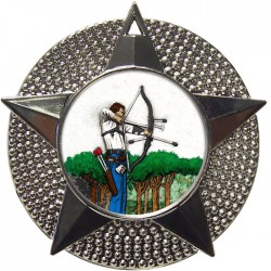Silver Archery Medal 48mm