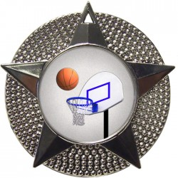Silver Basketball Medal 48mm