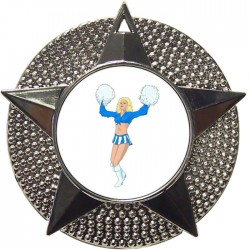 Silver Cheerleader Medal 48mm