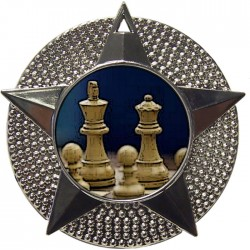 Silver Chess Medal 48mm