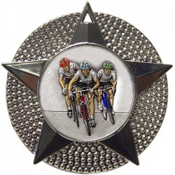 Silver Cycling Medal 48mm