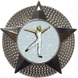 Silver Male Dance Medal 48mm