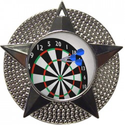 Silver Darts Medal 48mm