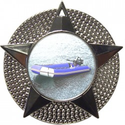 Silver Rubber Dinghy Medal 48mm