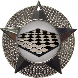 Silver Draughts Medal 48mm