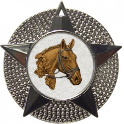 Silver Equestrian Medal 48mm