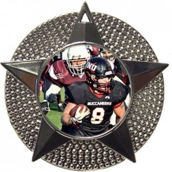 Silver American Football Medal 48mm