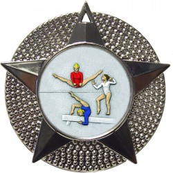 Silver Female Gymnastics Medal 48mm