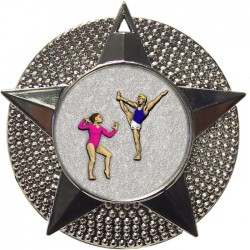 Silver Gymnastics Floor Medal 48mm