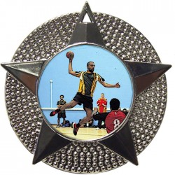 Silver Handball Medal 48mm