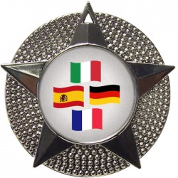 Silver Languages Medal 48mm