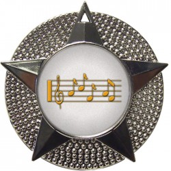 Silver Music Medal 48mm