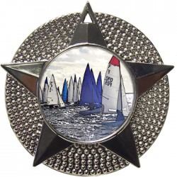 Silver Sailing Medal 48mm