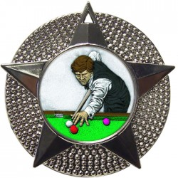 Silver Snooker Medal 48mm