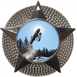 Silver Snowboarding Medal 48mm