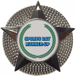 Silver Sports Day Runner Up Medal 48mm