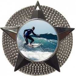 Silver Surfing Medal 48mm