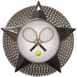 Silver Tennis Medal 48mm