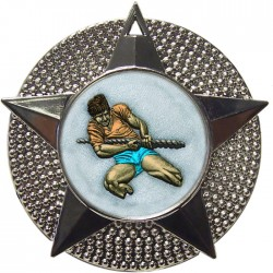 Silver Tug of War Medal 48mm