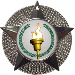 Silver Victory Torch Medal 48mm