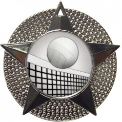 Silver Volleyball Medal 48mm