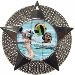 Silver Water Polo Medal 48mm