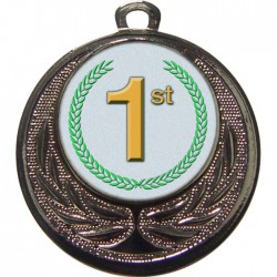 Silver 1st Place Medal 40mm