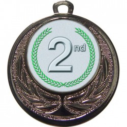 Silver 2nd Place Medal 40mm