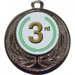 Silver 3rd Place Medal 40mm