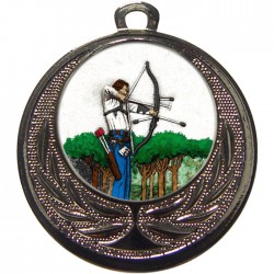 Silver Archery Medal 40mm