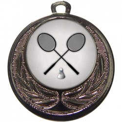 Silver Badminton Medal 40mm