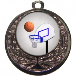 Silver Basketball Medal 40mm