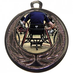 Silver Wheelchair Basketball Medal 40mm