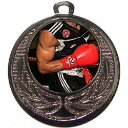 Silver Boxing Medal 40mm