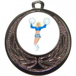 Silver Cheerleader Medal 40mm