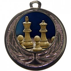 Silver Chess Medal 40mm