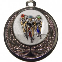 Silver Cycling Medal 40mm