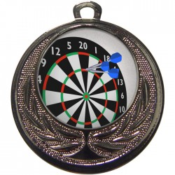 Silver Darts Medal 40mm