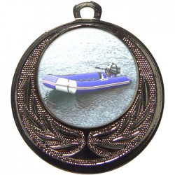 Silver Rubber Dinghy Medal 40mm