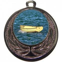 Silver Wooden Dinghy Medal 40mm