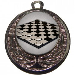 Silver Draughts Medal 40mm