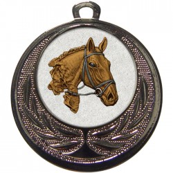 Silver Equestrian Medal 40mm