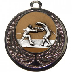 Silver Fencing Medal 40mm
